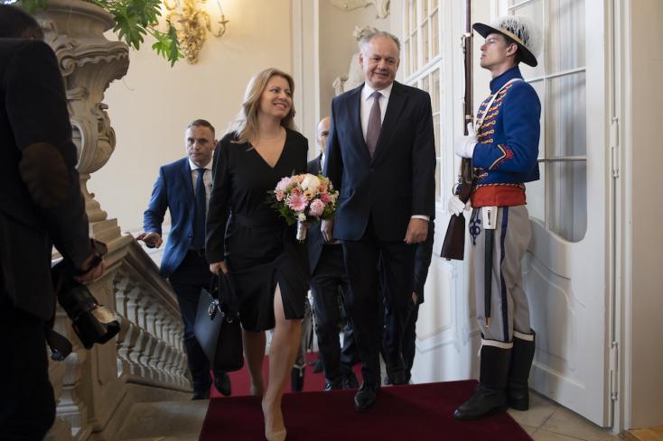 Kiska az elnöki palotában fogadta utódját, Čaputovát