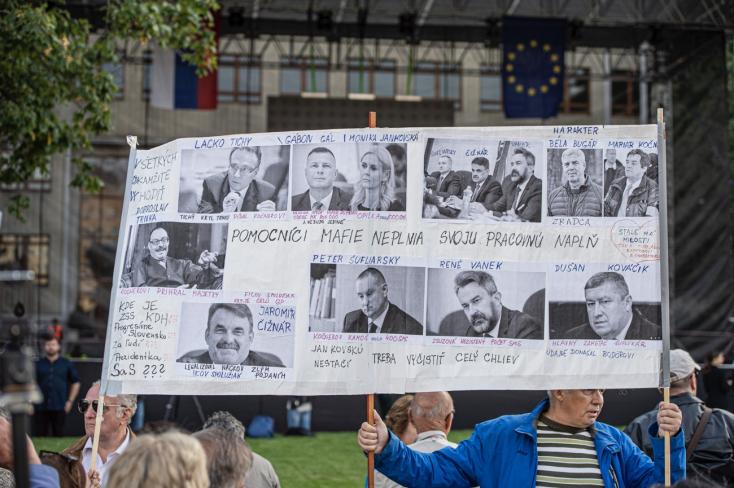 FOTÓGALÉRIA: A speciális ügyész távozását követelték a Tisztességes Szlovákiáért tüntetésén