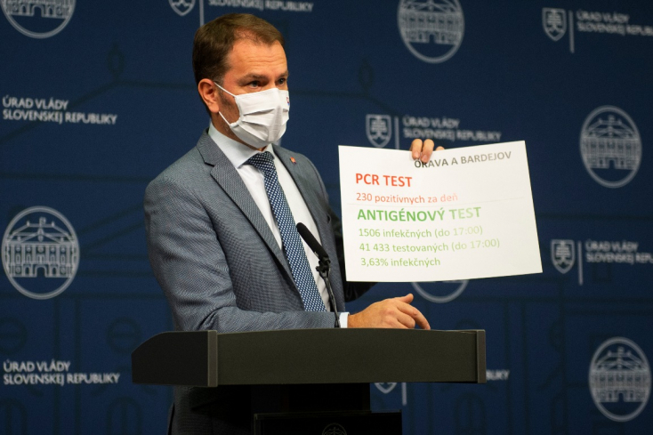 2225 fertőzöttet igazoltak a négy járásban, Matovič figyelmeztet, a negatív eredmény nem jelenti azt, hogy nincs a szervezetben vírus