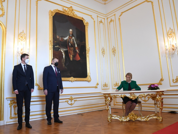 Čaputová, Heger és Kollár aláírták a helyreállítási terv kísérőlevelét, amelyet az Európai Bizottság elnökének címeznek