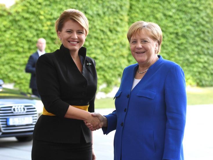 Angela Merkel a Kuciak-gyilkosság nyomozásáról kérdezte Čaputovát