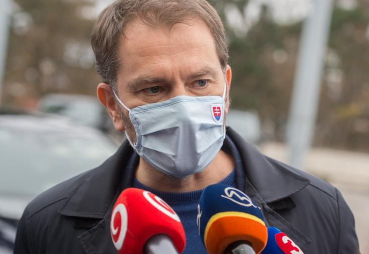 Matovič: Karácsony előtt háromfordulós országos tesztelésre kerül sor, 8 millió antigén tesztre lesz szükség