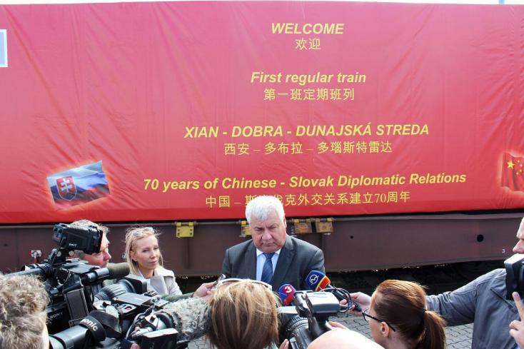 Miután megérkezett Dunaszerdahelyre a kínai tehervonat, Érsek máris új üzleti lehetőségekről tárgyal