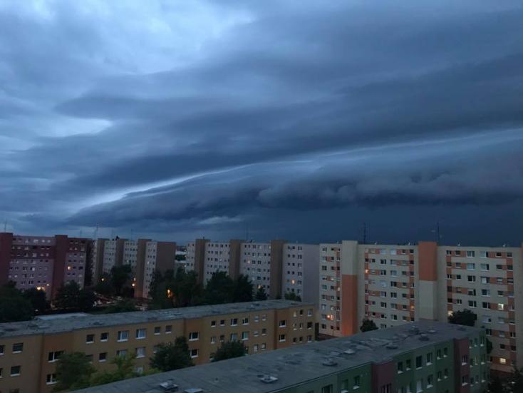 Rémisztő viharfelhők kavarogtak a Dunaszerdahelyi járás felett – FOTÓK