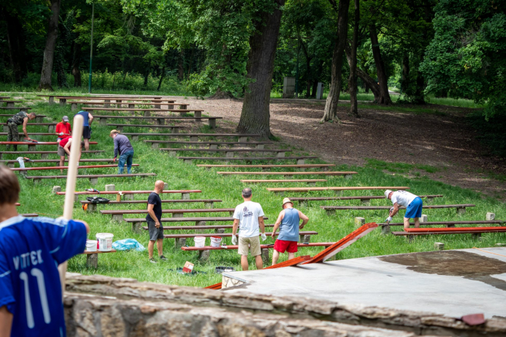 Önkéntesek szépítették a somorjai Pomlét