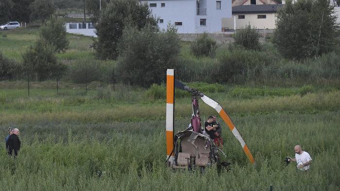 Vezetékekkel ütközött az Eperjes mellett lezuhant helikopter, egy gyerek felvette az egészet (videó)