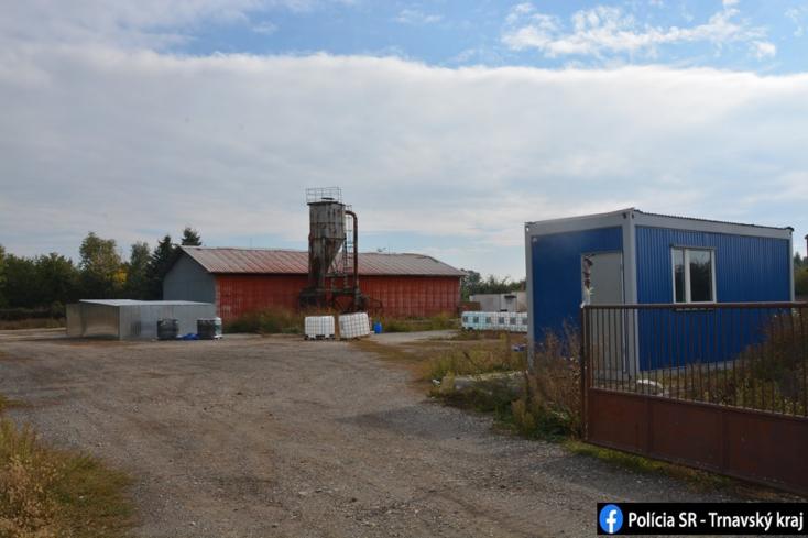 Nagyfogás: droglabort lepleztek le az egykori szövetkezet területén a Galántai járásban