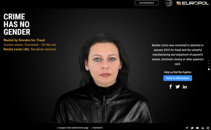 Ő Szlovákia legkeresettebb női bűnözője – az Egyesült Államokban tartózkodhat