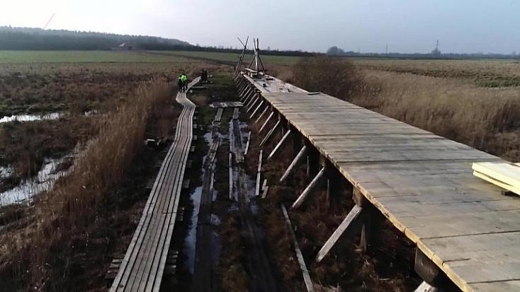 A világ leghosszabb viking kori hídját adták át
