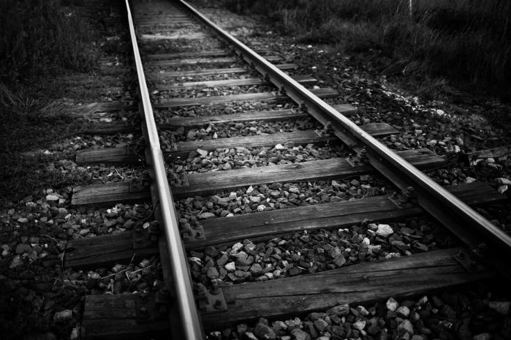 Kézen fogva léptek a vonat elé