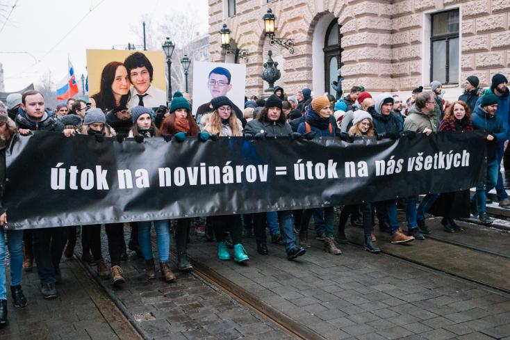 Nagyszabású tüntetésekre készülnek Ján Kuciak és Martina Kušnírová meggyilkolásának évfordulóján