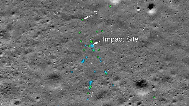 Megtalálták, hol hevernek az indiai Hold-szonda darabjai