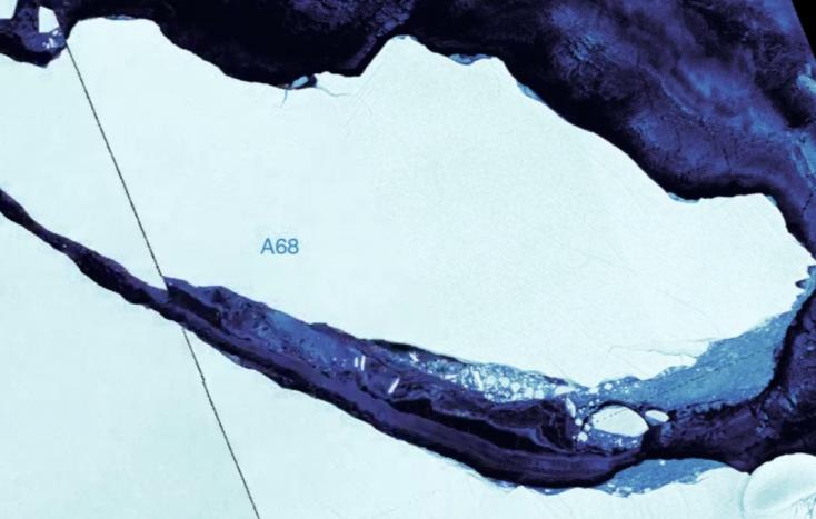 Gigantikus jégtömb vált le az Antarktiszról!