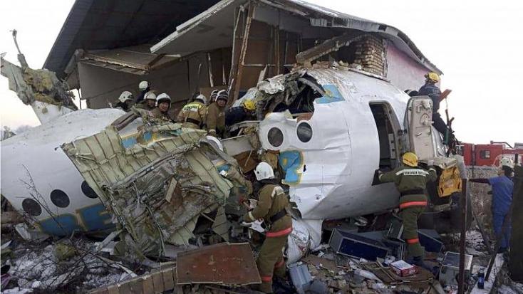 Felszállás után lezuhant egy repülőgép Kazahsztánban