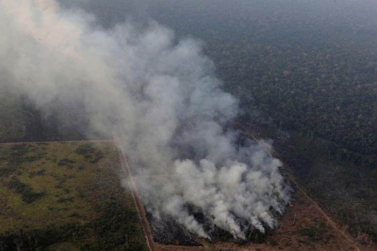 A brazil elnök szerint nincs pénzük harcolni az amazonasi erdőtűz ellen