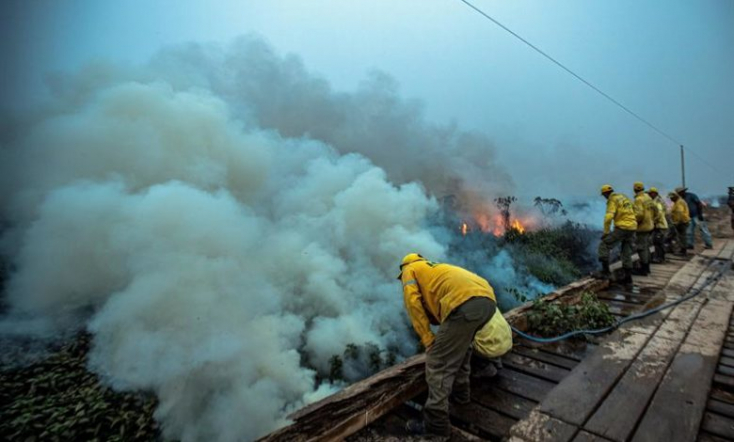 Tovább terjed a tűz az Amazonas vidékén, a brazil elnökmindenttagad