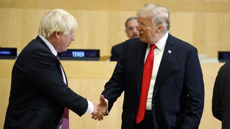 """Trump: """"Nem akarok beavatkozni a brit választásokba, de Johnson nagyon alkalmas"""""""