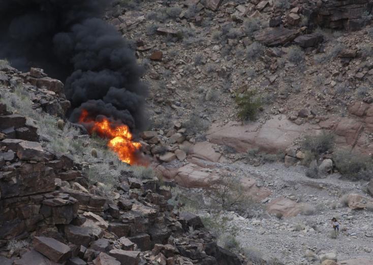 Brit turisták voltak a Grand Canyonba zuhant helikopteren