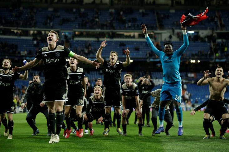 Bajnokok Ligája: Az Ajax kiejtette a címvédő Real Madridot!