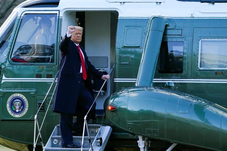 Trump megköszönte az elmúlt négy évet, és sok sikert kívánt a következő kormánynak