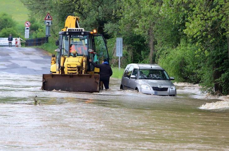 Árvízveszélyre figyelmeztetnek a meteorológusok Közép- és Kelet-Szlovákiában
