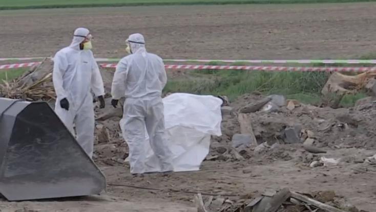 Nagy mennyiségű veszélyes hulladékot ástak el Komáromfüss mellett