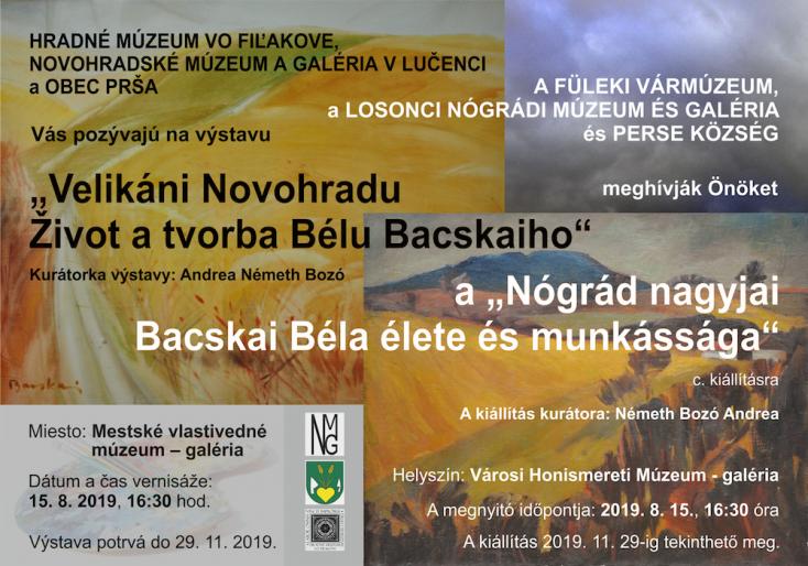 """A """"Nógrád nagyjai – Bacskai Béla élete és munkássága"""" c. kiállítás megnyitója aVárosi Honismereti Múzeum galériájában"""
