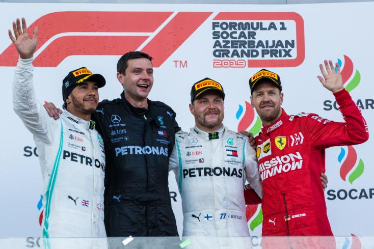 Azerbajdzsáni Nagydíj: Bottas nyert, kettős Mercedes-siker megint!