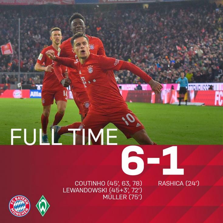 A Bayern szabályosan kiütötte a Werder Brement