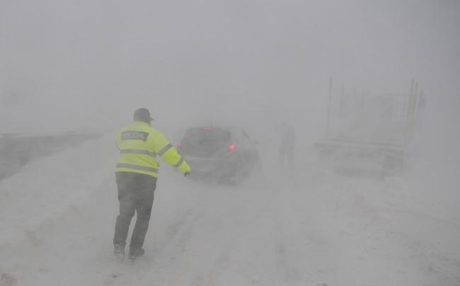 Délnyugat-Szlovákia – Elsőfokú riasztást adtak ki a hófúvás miatt