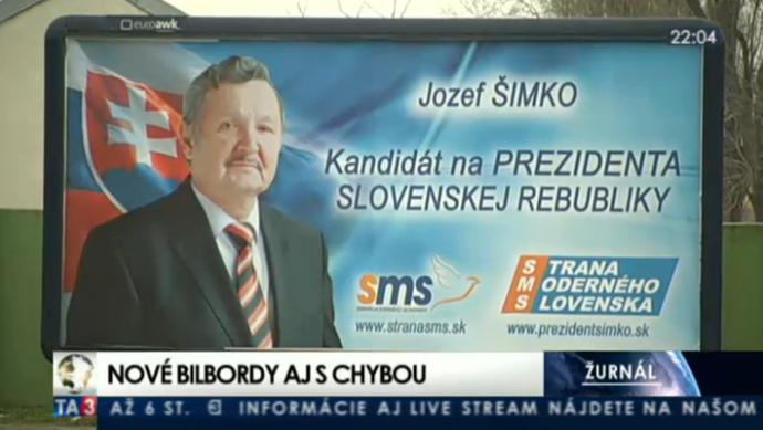 Nevetséges helyesírási hiba az elnökjelölt plakátján