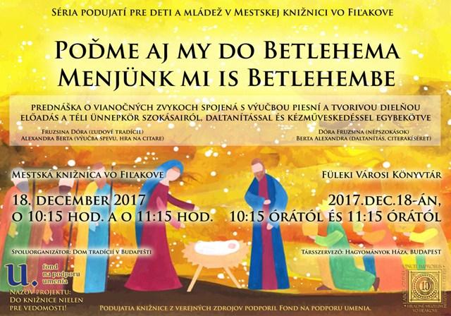 Menjünk mi is Betlehembe! – adventi foglalkozás a budapesti Hagyományok Háza munkatársaival