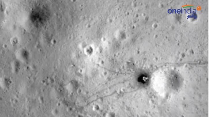 Egy darabban, megdőlve fekszik az indiai Hold-misszió leszállóegysége