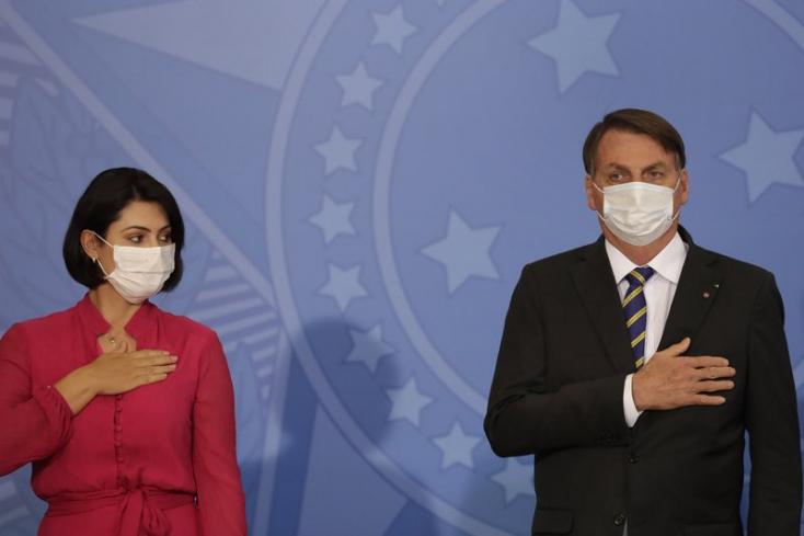 A brazil elnök feleségeés egyik minisztereis elkapta akoronavírust