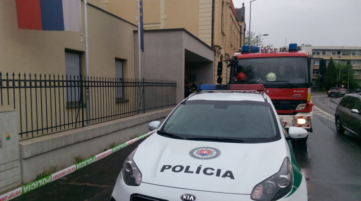 Bombariadó miatt kutatták át a Dunaszerdahelyi Járásbíróság épületét