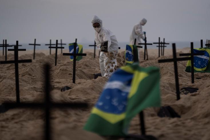 Brazíliában van immár a második legtöbb halálos áldozata a koronavírus-járványnak