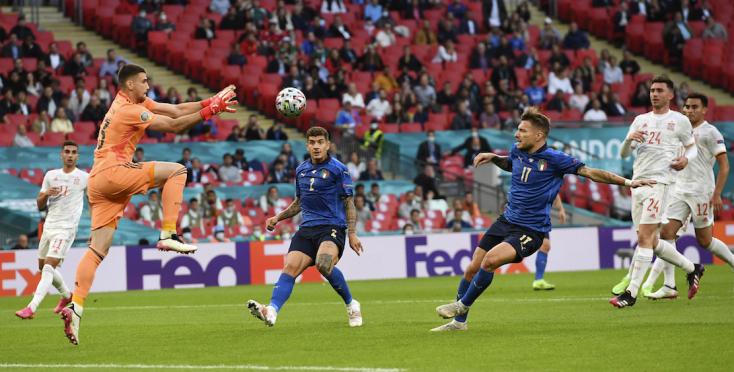 EURO-2020: Olaszország tizenegyespárbajban legyőzte spanyolokat, elsőként jutott a döntőbe