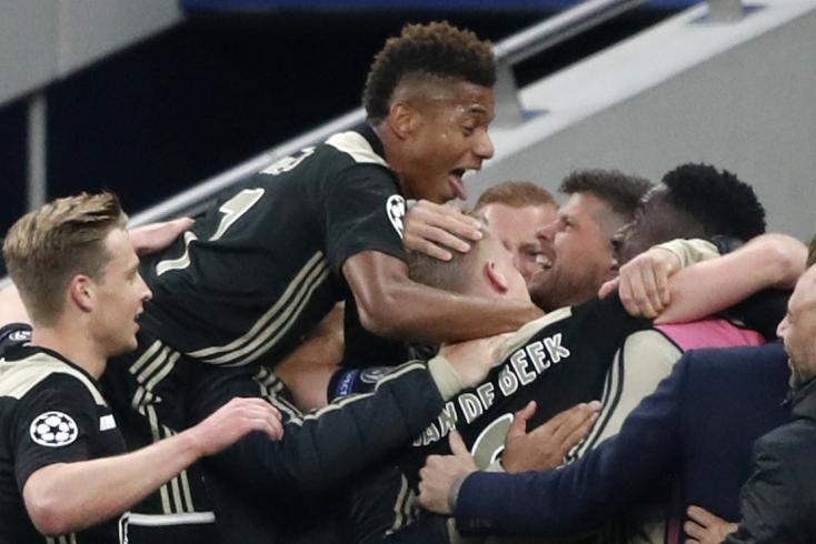 Bajnokok Ligája: Az Ajax megverte Londonban a Tottenham Hotspurt