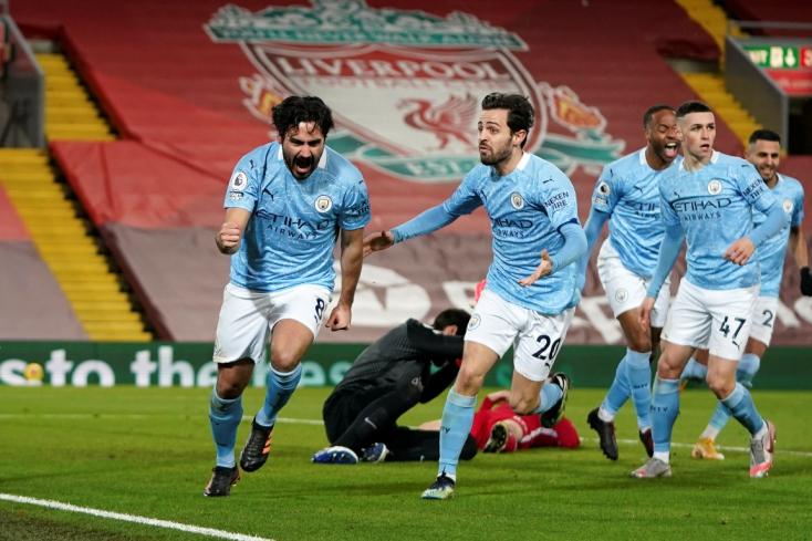 Premier League: A Manchester City idegenben ütötte ki a Liverpoolt