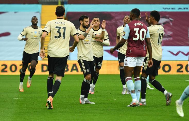 Premier League –Magabiztosan győzte le az Aston Villáta Manchester United