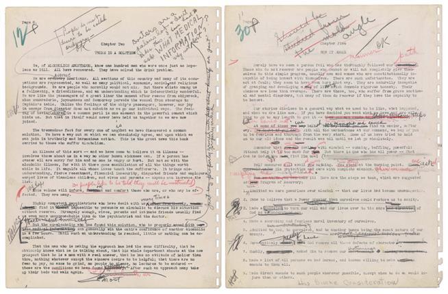 """Milliókat érhet a az Anonim Alkoholisták kézikönyvének eredeti """"kézirata"""""""