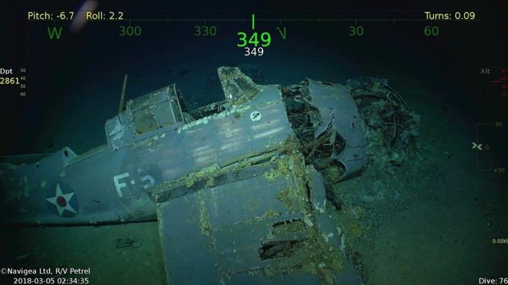 Világháborús amerikai repülőgép-hordozó roncsaira bukkantak
