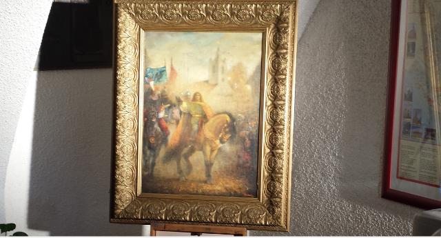 Festmény is készült Mátyás király somorjai látogatásáról