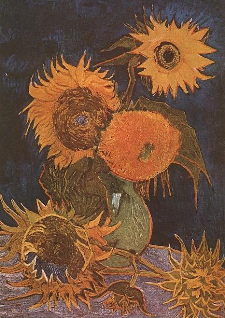 Rendhagyó módon lesz együtt látható Van Gogh öt napraforgós festménye