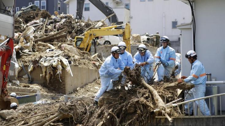 Meghaladja a kétszázat Japánban a heves esőzések halálos áldozatainak száma