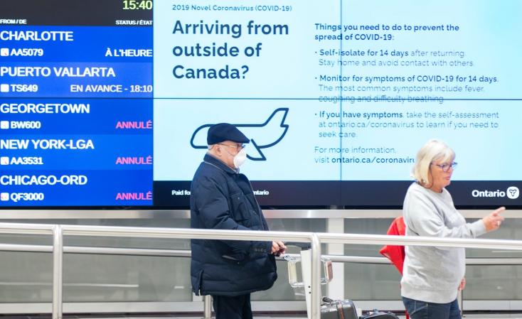 Kanadában továbbra is kötelező lesz a 14 nap karantén azoknak, akik külföldről utaznak az országba