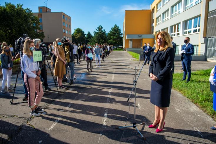 """""""Az én tiszteletemet a szakmájuk választásáért már most kivívták"""" - üzente Čaputová az egészségügyiseknek"""