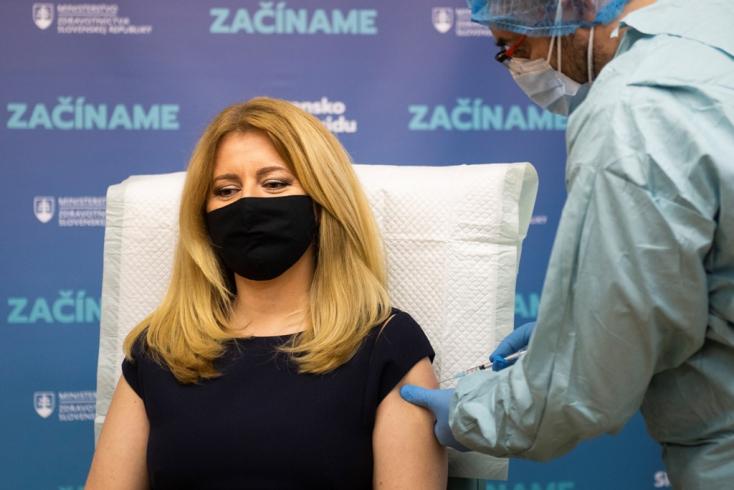 Zuzana Čaputová megkapta a második adag vakcinát
