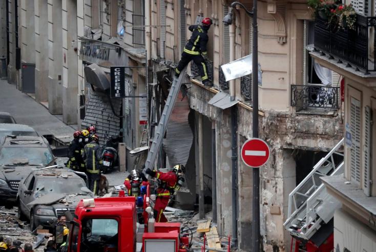 Gázrobbanás történt egy párizsi pékségben, többen megsérültek