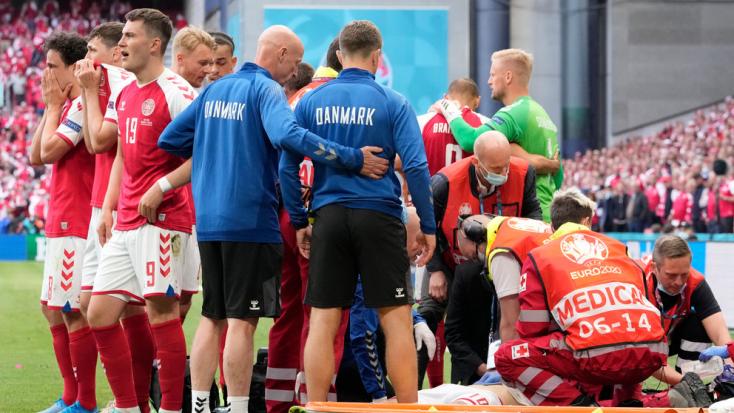 EURO-2020: Kiderült, mi volt Eriksen első szava, miután újraélesztették a pályán